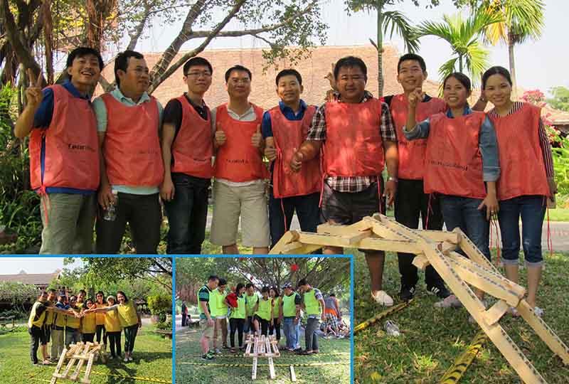 team building xây cầu da vinci